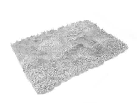 Fluffy carpet. 3d illustration isolated on white background