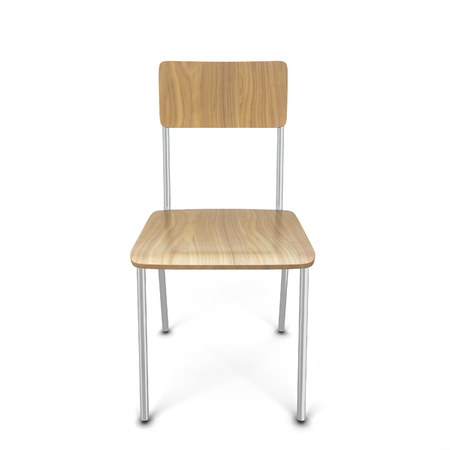 comfort classroom: School chair. 3d illustration isolated on white background