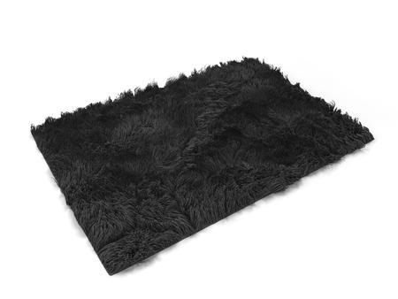 푹신한 카펫. 흰색 배경에 고립 된 3d 그림 스톡 콘텐츠 - 80606401