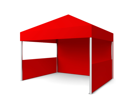 Blank tent. 3d illustration isolated on white background