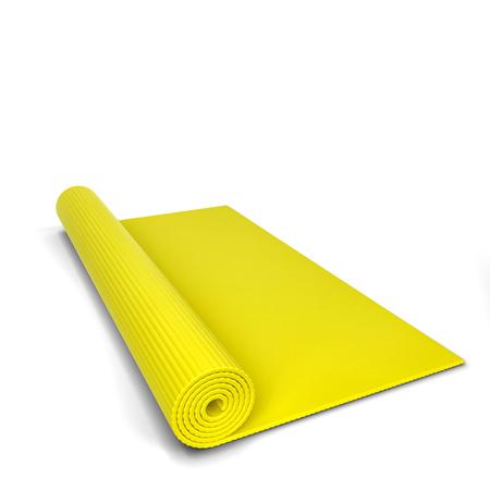 matt: Yoga mat. 3d illustration isolated on white background
