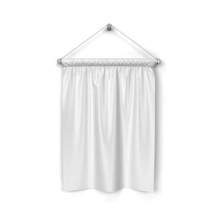 hang up: Blank pennant. 3d illustration isolated on white background Stock Photo