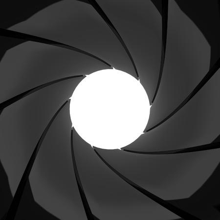 Inside gun barrel effect. 3d illustration