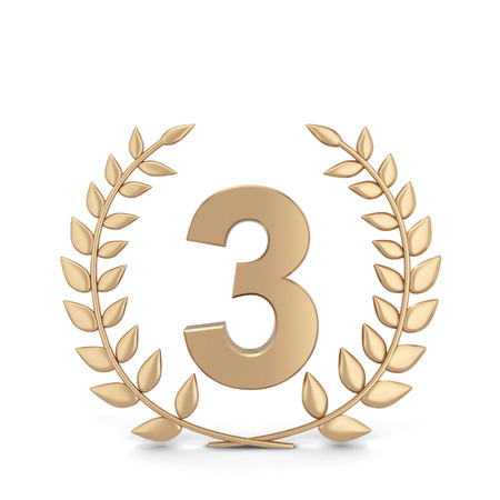 Winner laurel symbol. 3d illustration isolated on white background  Stock Photo