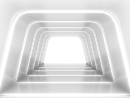 Abstract futuristic tunnel. 3d illustration  版權商用圖片