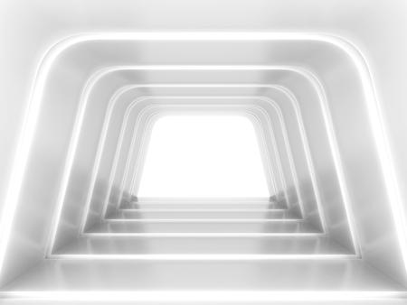 Abstract futuristic tunnel. 3d illustration  Foto de archivo