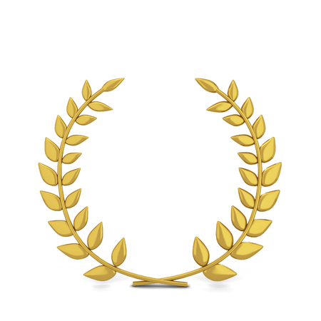 Winner laurel symbol. 3d illustration isolated on white background  Stock Photo