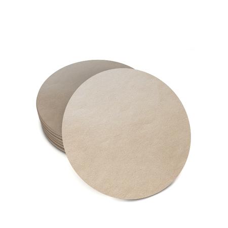 Lege onderzetters sjabloon. 3D illustratie op een witte achtergrond