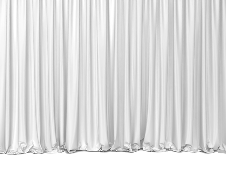 Theater curtains. 3d illustration isolated on white background  Stock Photo