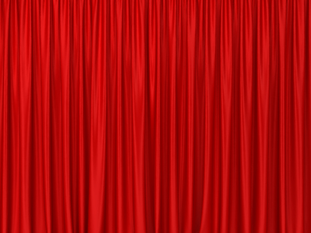Theater curtains. 3d background