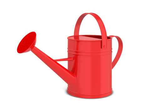 Watering can. 3d illustration isolated on white background  스톡 콘텐츠