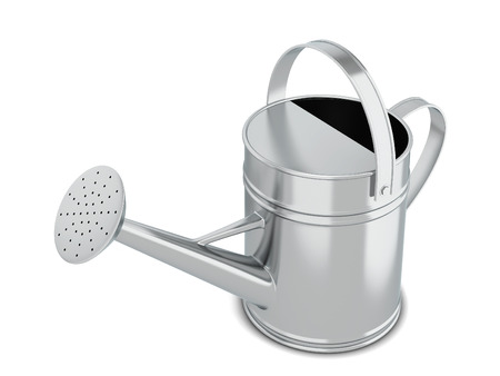 Watering can. 3d illustration isolated on white background  Banco de Imagens