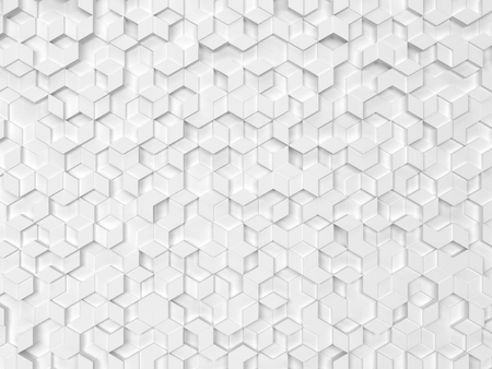 Hexagons made of rhombuses. 3d background