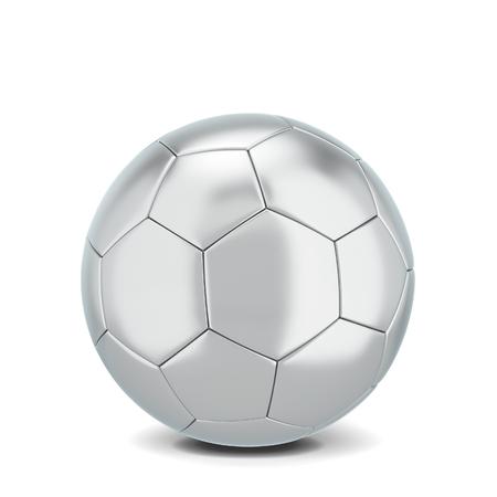 Soccer ball. 3d illustration isolated on white background