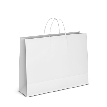 Blank shopping bag mockup. 3d illustration isolated on white background