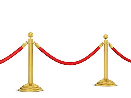 Metallrungen rudern. 3d Illustration lokalisiert auf weißem Hintergrund