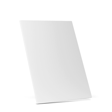Blank paper folder mockup. 3d illustration isolated on white background