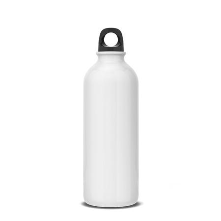 Blank sport bottle for liquid. 3d illustration isolated on white background