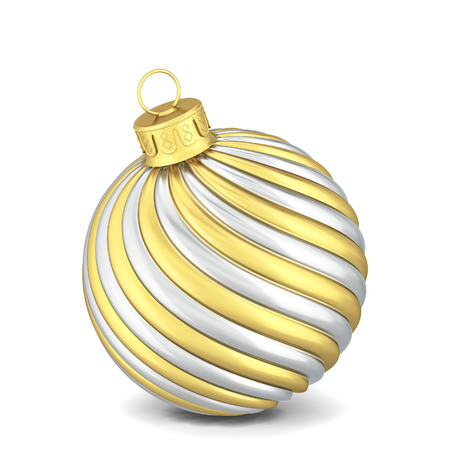 Christmas ball toy. 3d illustration isolated on white background