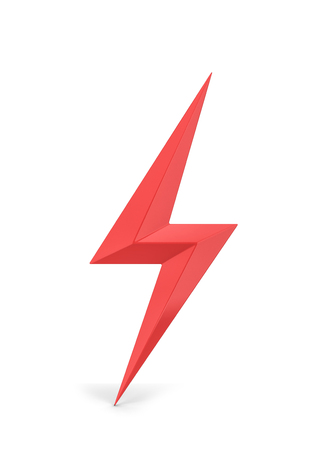 Lightning bolt symbol. 3d illustration isolated on white background Imagens