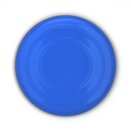 Blank frisbee mockup. 3d illustration isolated on white background Stock fotó