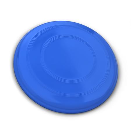 Blank flying disk mockup. 3d illustration isolated on white background