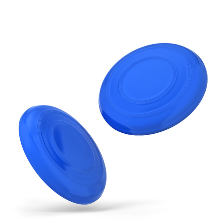 Blank frisbee mockup. 3d illustration isolated on white background 免版税图像