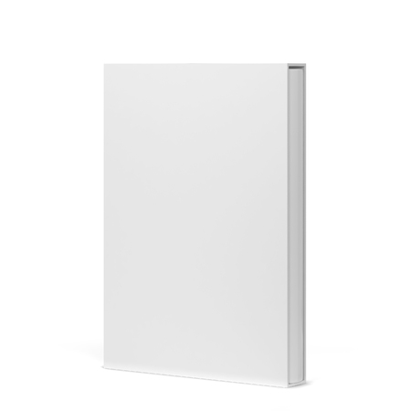 Book in a slipcase cover mockup. 3d illustration isolated on white background