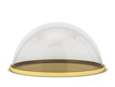 Glass dome on a stand. 3d illustration isolated on white background Stock fotó