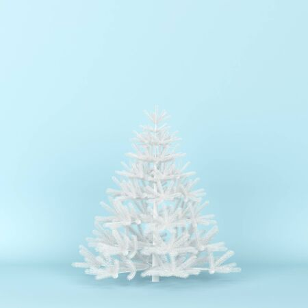 Christmas tree. 3d illustration. Minimal concept