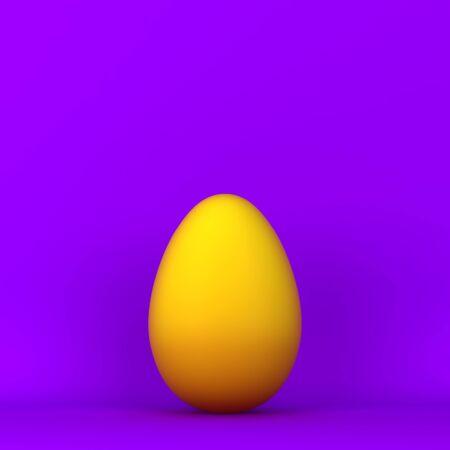 Simple egg. 3d illustration. Minimal concept  Фото со стока