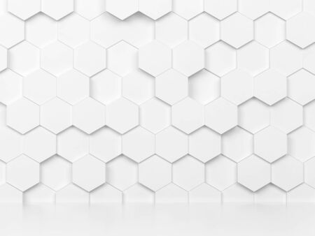 Abstract hexagon background. 3d illustration