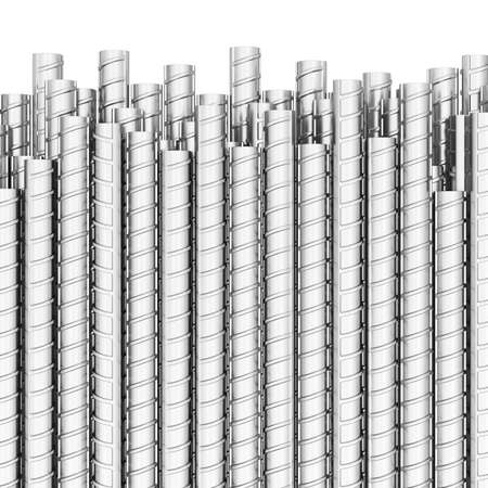 Steel reinforced bars. 3d illustration isolated on white background