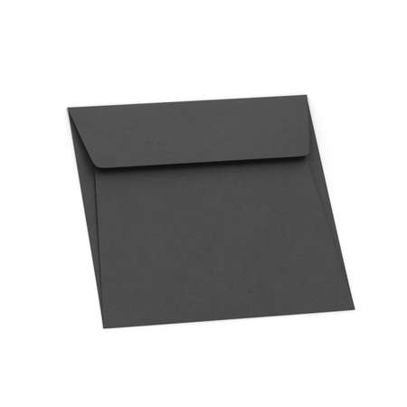 Blank paper square envelope mockup. 3d illustration isolated on white background