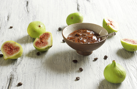 jelly beans: Fig and coffee marmalade Stock Photo