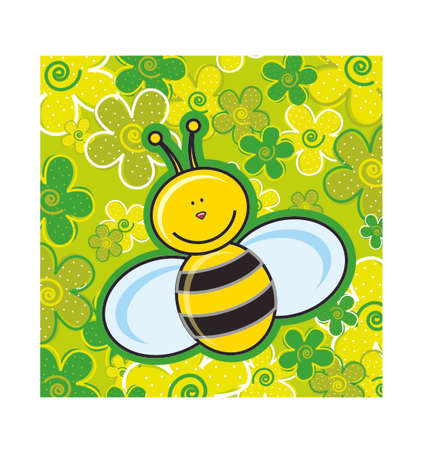 Bee Comics Vector