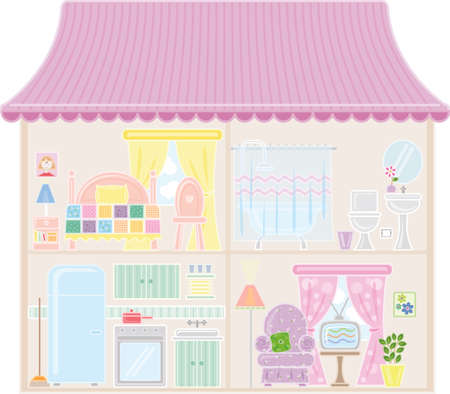 Doll House Stock Vector - 4669836
