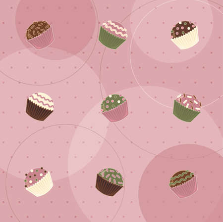 chocolate truffle: Little Candies Collection Illustration
