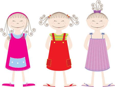 lovely girl: Girls Collection Illustration