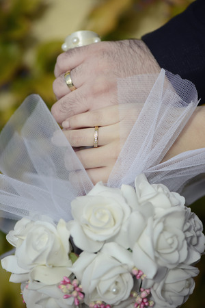 wedding day and wedding rings