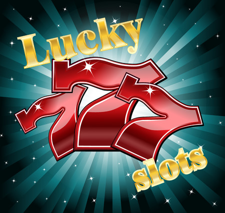 coordinated: lucky 7 slot machine font