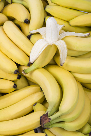 pile of fresh healthy bananas Stock Photo