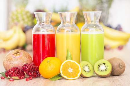 Organic juice from fresh fruits