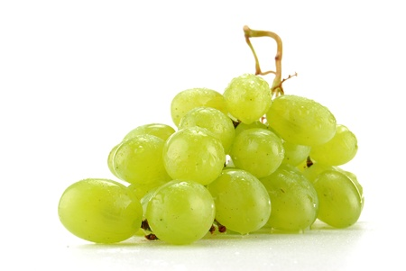 Grapes isolated on white photo