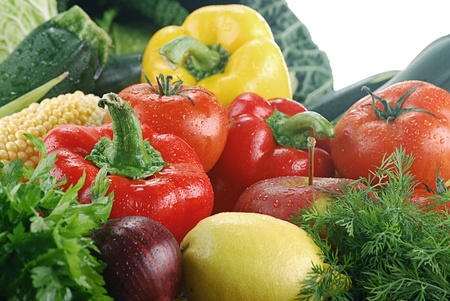 Composition with fresh vegetables Stock Photo - 8659190