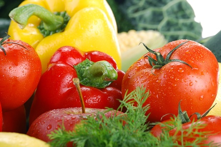 Composition with raw vegetables Stock Photo - 8831150