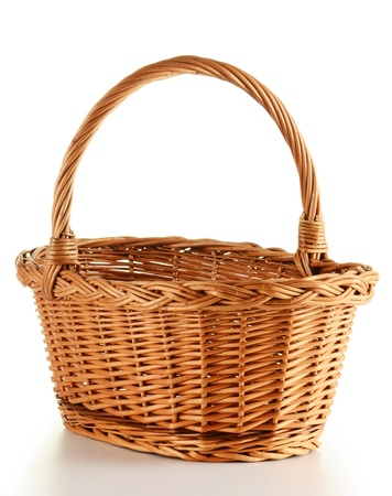 Wicker basket isolated on white background Stock Photo - 8752871