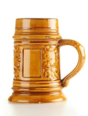 Traditional beer mug isolated on white background  photo