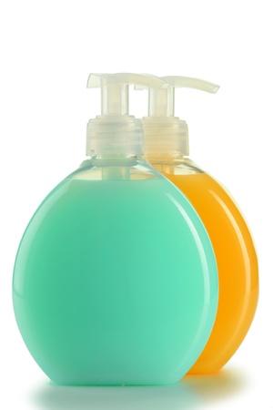 produits de beaut�: Bouteilles en plastique de produits de beaut� et de soins corps