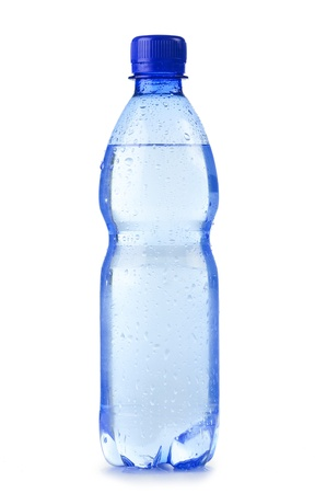 mineral water: Polycarbonate plastic bottle of mineral water isolated on white background